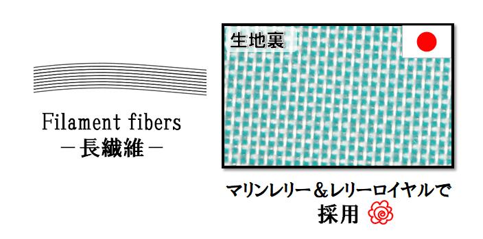 速乾性の高い長繊維ポリエステル生地