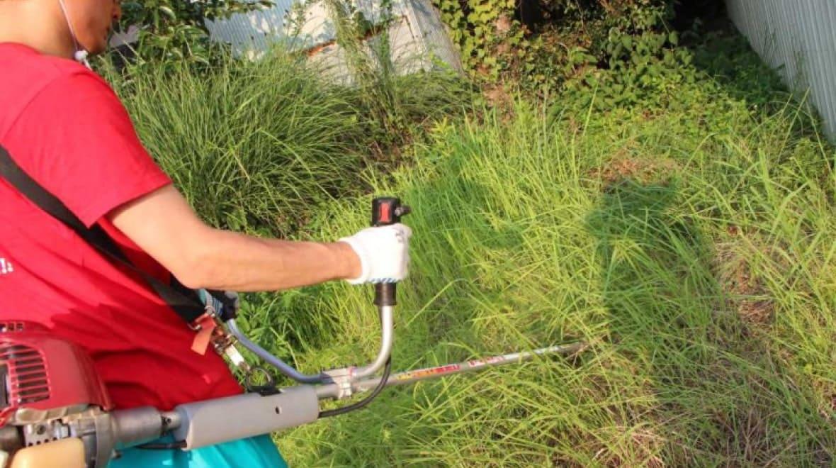 もう危なくない!もっと安全な草刈りをイメージ
