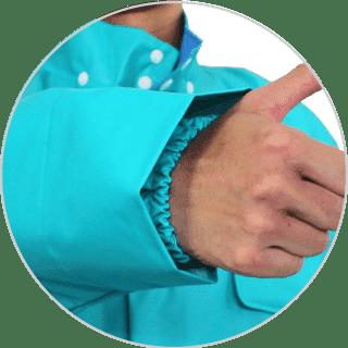 水を防ぐ二重袖