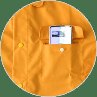 左胸に12㎝幅のポケット